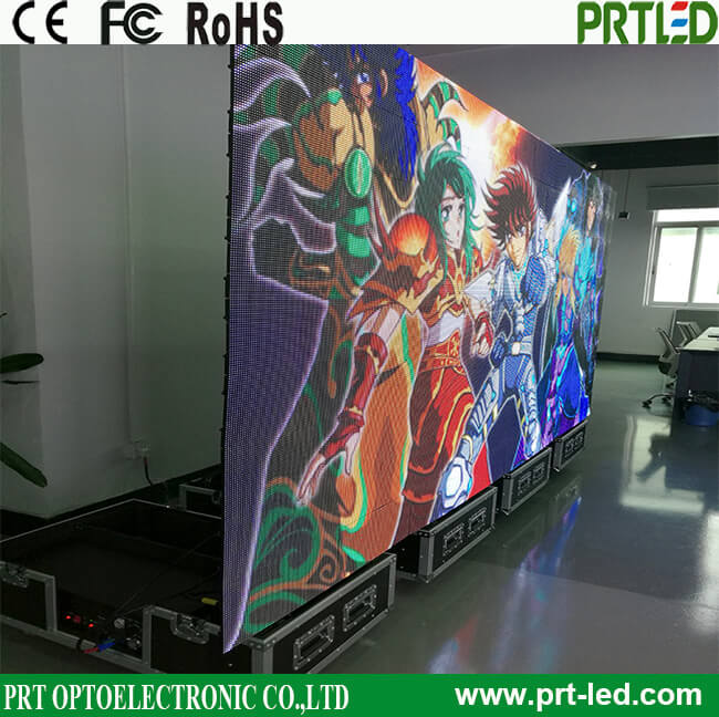 Ultra Slim Indoor P 6 Full Color Foldable Advertising LED Display Screen with Trolley Case