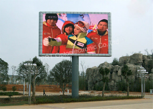 Light Weight P 6 Outdoor LED Display with Slim Panel 768 * 768 mm(rental /fixed Permanent Install)