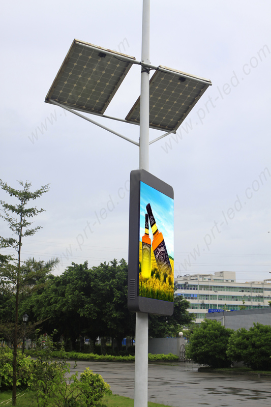 HD Outdoor P3.33 Advertising LED Display Board Mounting on Standing Poles