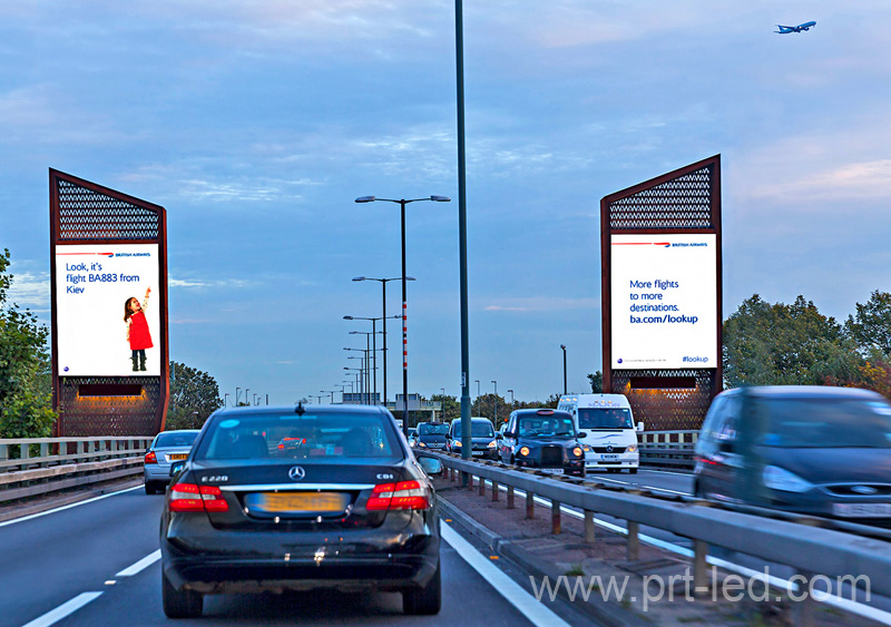 High Brightness Full Color Outdoor Advertising LED Display Screen for Roadside (P5, P6)