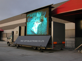 Truck Mounted Mobile LED Advertising Screen Made with Energy-Saving P10 Modules (3.8V)