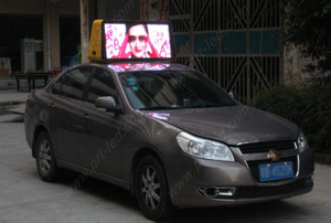 Waterproof P6 Car Roof LED Display with High Brightness