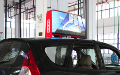 High Brightness Oudoor Advertising P5 Taxi/Car Top LED Display/Sign Board